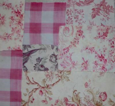 BEAUTIFUL BATCH 7 PIECES 19th CENTURY  FRENCH LINENS COTTONS, PROJECTS 147.