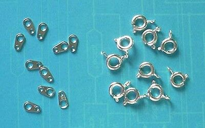 20 silver plated 6mm bolt rings with tags, findings for jewellery making crafts