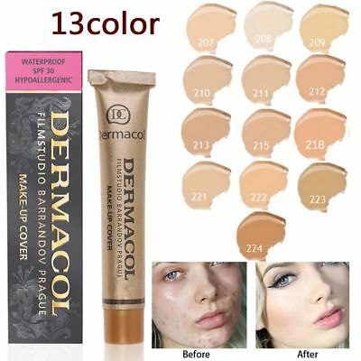 Dermacol High Cover Conceal Makeup Foundation Hypoallergenic Waterproof SPF30 CA
