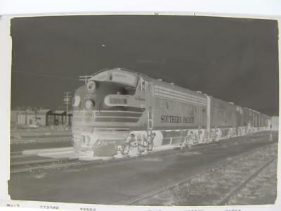 1960 Photo Negative Southern Pacific Railroad Diesel Locomotive #6200 California