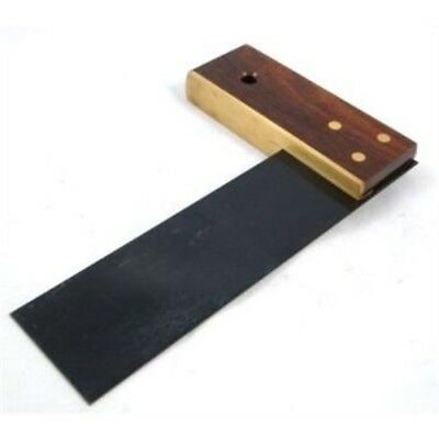 "Set Square Try Tri 6"" 150mm Joiners Joinery Carpenters Rosewood Brass Base - 6"