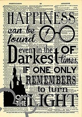 Harry Potter dictionary art quote print, A4, poster, picture, gift