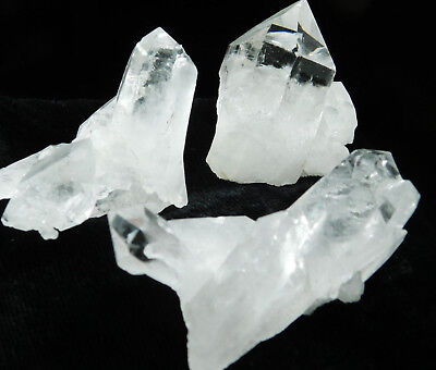 A Lot of THREE! Nice and 100% Natural Quartz Crystals Found in Brazil 143gr e