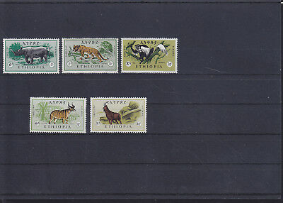 068867 Rotwild Red Deer Ethiopia 532-36 ** MNH Year 1966