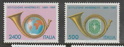 ITALY 1989 Ministry of Posts Set MUH  #