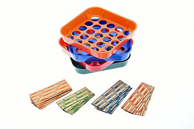 Set Coin Sorter Change Counter Square Shaped Money Roller Auto Assorted Wrappers