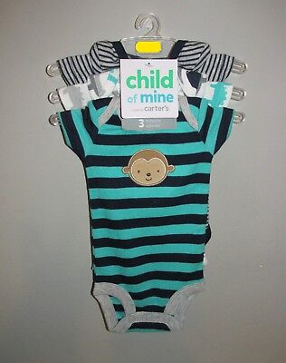 Carters Baby Boys 3 PACK One Pieces (Size Preemie) BRAND NEW W TAGS