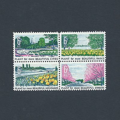 Washington DC Natural Beauty in Bloom - Vintage Set of Mint Stamps 49 Years Old!