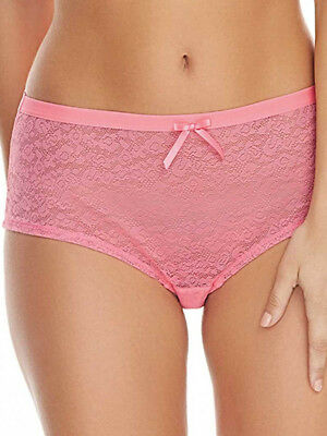 Freya Fancies Short Brief Size 10 12 18 20 Candy Pink Lace Hipster Knickers  1015 e6ef131a3