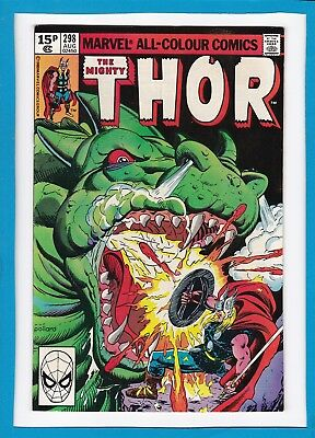 "Mighty Thor #298_August 1980_Very Fine+_""fire Of The Dragon""_Bronze Age Uk!"