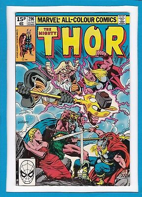 "Mighty Thor #296_June 1980_Nm Minus_""from Valhalla...a Valkyrie""_Bronze Age Uk!"