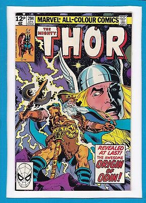"Mighty Thor #294_April 1980_Very Fine/near Mint_""origin Of Odin""_Bronze Age Uk!"