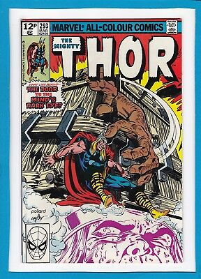 "Mighty Thor #293_March 1980_Vf/nm_""the Mind's Dark Eye""_Bronze Age Marvel_Uk!"