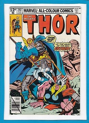 Mighty Thor #292_February 1980_Vf/nm_Odin_Hercules_Zeus_Bronze Age Marvel_Uk!