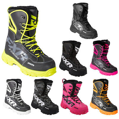 FXR X Cross Lace Winter Snowmobile Boot Insulated 600g -40C Fixed Fur Liner