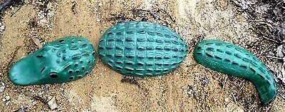 """3 piece alligator mold mould Total size 18""""L x 4""""W in the center piece"""