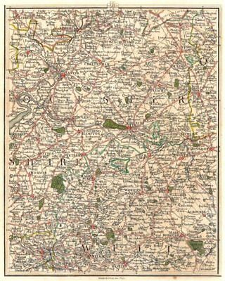 COTSWOLDS. Gloucester Cirencester Swindon Cheltenham Bath Stroud. CARY 1794 map