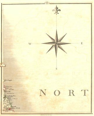 TYNEMOUTH. Northumbria. North South Shields Whitley Bay Blyth. CARY 1794 map