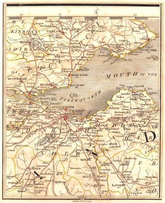 FIRTH OF FORTH. Fife & Lothian. Edinburgh Dunfermline Leith Crail. CARY 1794 map