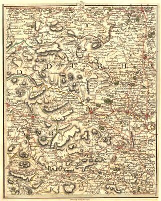 NORTH PENNINES & YORKSHIRE DALES.Durham Newcastle On Tyne Richmond.CARY 1794 map
