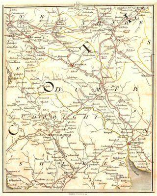 DUMFRIES/GALLOWAY.Kirkcudbrightshire Ayrshire Lanarkshire Sanquhar.CARY 1794 map