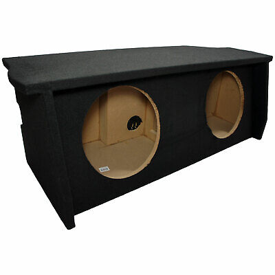 "2007-UP Jeep Wrangler 2 Door Dual 12"" Sub Box Subwoofer Enclosure with Amp Rack"
