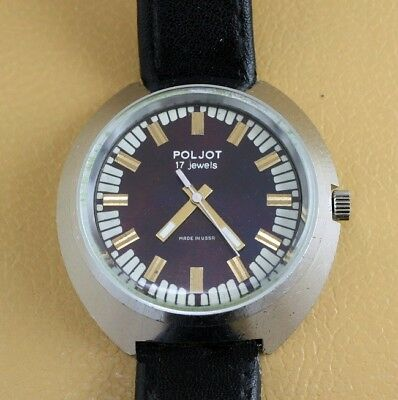 Poljot Barel 17Jewels Classic Vintage Soviet Russian Mechanical Wristwatch Ussr