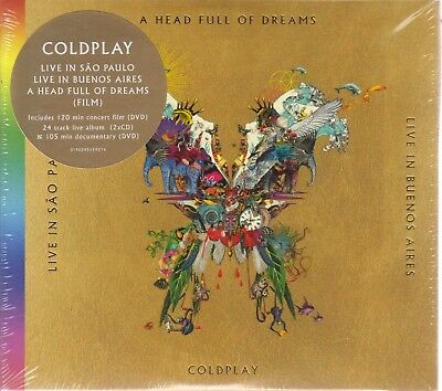 Coldplay CD NEW A Head Full Of Dreams 2 CD 2 DVD Live in Buenos Aires, San Paulo