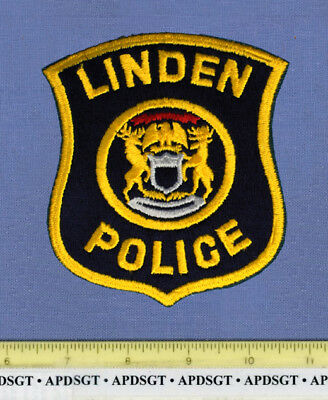 LINDEN MICHIGAN Sheriff Police Patch STATE SEAL