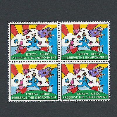 Peter Max's Cosmic Jumper - Vintage Mint Set of 4 Stamps 44 Years Old!