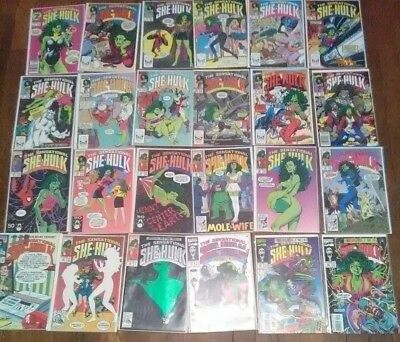THE SENSATIONAL SHE-HULK (1989 Marvel) JOHN BYRNE lot of 24 comics