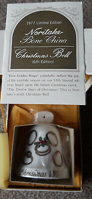 1977 Noritake Christmas bell 6th Edition. New In Box.