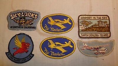 Lot of 6 Airport Airplane Patch