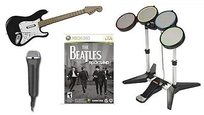 THE BEATLES Rock Band Special Value Edition XBOX 360 Set Kit game drums guitar