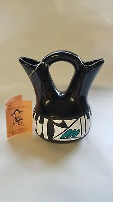 KOPA Native American Hopi Wedding Vase Signed Bailey