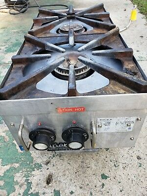 "Superior 12"" Counter Top 2 Burner Gas Commercial  Hot Plate"