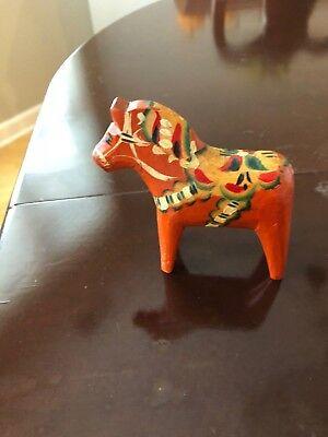 "Swedish Dala Horse...early 1960""s....vintage/antique.. Handcrafted & Handpainted"