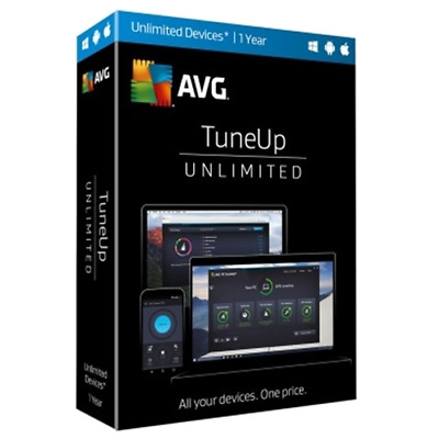 AVG PC TuneUp 2019, 3 PC Users, Full version LifeTime License - Download