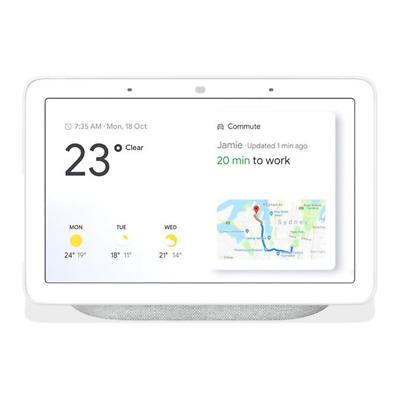 Google Home Nest Hub Smart Display & Home Assistant - Chalk / Charcoal - [Au Sto