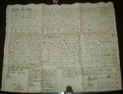 RARE 1793, INDENTURE, Manuscript Real Estate Release, Oxford, CHESTER COUNTY, PA