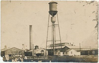 Vintage Real Photo Postcard Paper Mill Port Edwards Wisconsin RPPC