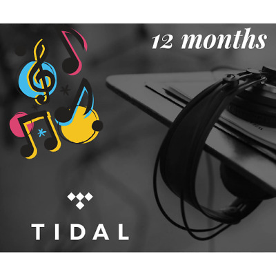 TIDAL Premium - 12 Months ⭐ DELIVERY 1 hour - Worldwide ⭐