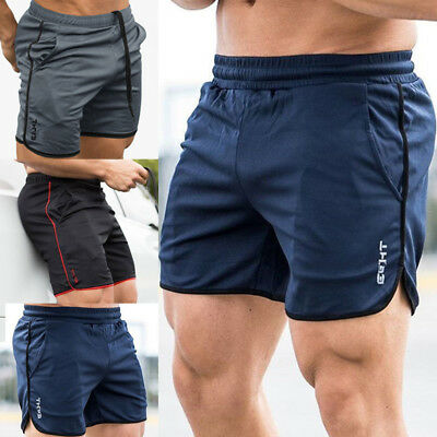 Men's GYM Shorts Training Running Sport Workout Casual Jogging Pants Trousers ^^