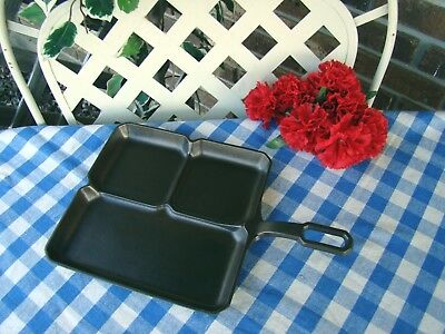 Griswold Cast Iron Large Logo Colonial Breakfast Skillet – #666 – Near Mint