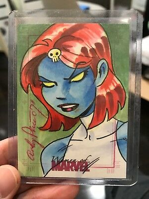 2007 Women Of Marvel Artist Color Sketch Card Mystique By Andy Price 1/1 Rare
