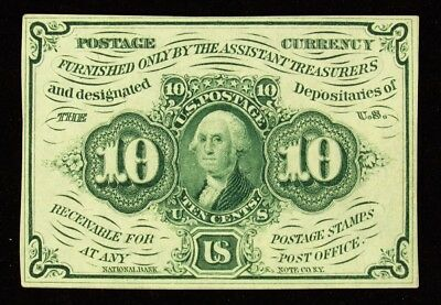 1st Issue 10 Cent US Fractional (Postage Currency) - FR.1242 - ABC Monogram