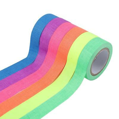 6pcs Fluorescent UV Reactive Fluorescent/Neon Gaffer Cloth Tape