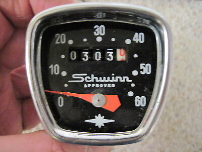 "Vintage Schwinn 26"" Speedometer W/cable For Parts Or Repair Nr"