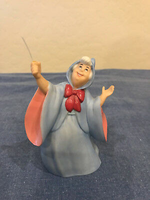 """Collector Disney Cinderella's Fairy Godmother Figurine 4.5"""" tall, missing wand"""