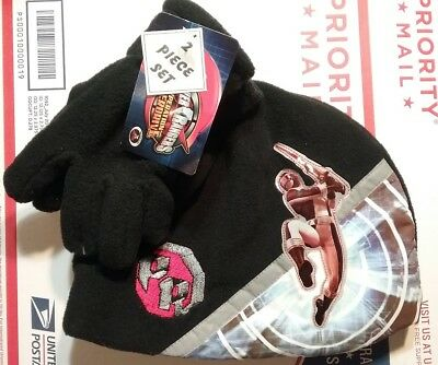 Power Rangers Hat and Gloves Set NeW Operation Overdrive Fleece Set NWT